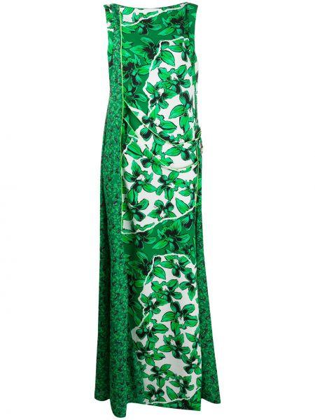 Платье макси с цветочным принтом зеленый Iceberg