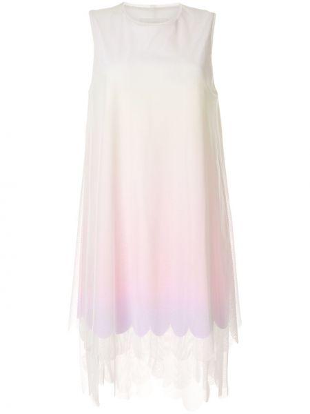 Розовое платье сетчатое Paskal