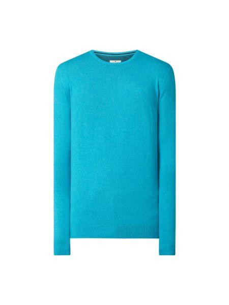 Sweter bawełniany - turkusowy Tom Tailor