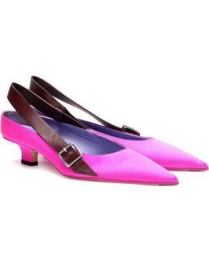 Buty na wysokim obcasie różowy Victoria Beckham