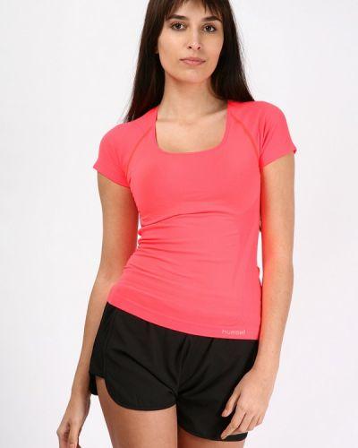 Коралловая футбольная футболка Hummel