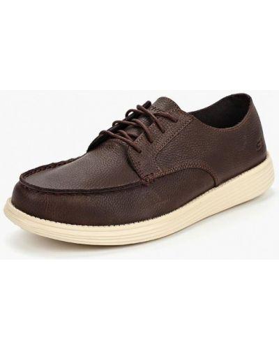 Ботинки осенние кожаные резиновые Skechers