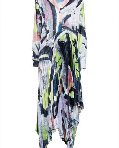 Satynowa sukienka midi - zielona Marques Almeida