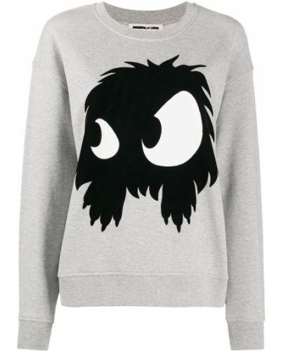 Серый свитер с круглым вырезом круглый свободного кроя Mcq Alexander Mcqueen