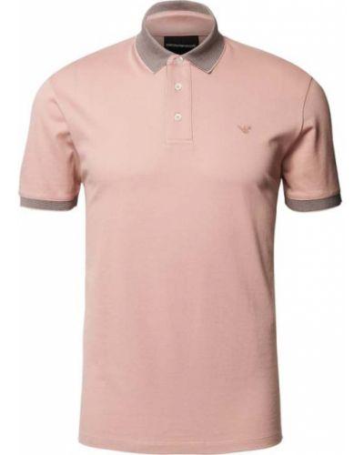 T-shirt bawełniana - różowa Emporio Armani