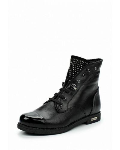 Кожаные ботинки осенние на каблуке Tervolina