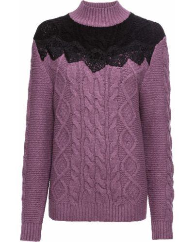 Сиреневый свитер с косичкой Bonprix