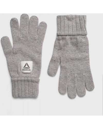 Rękawiczki wełniany szary Reebok