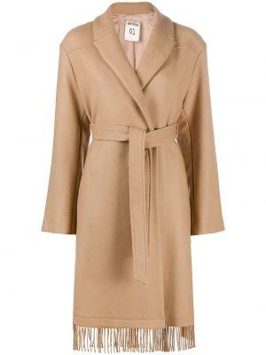 Шерстяное пальто - коричневое Semicouture