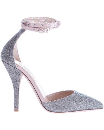 Туфли на каблуке кожаные с ремешком на щиколотке Valentino