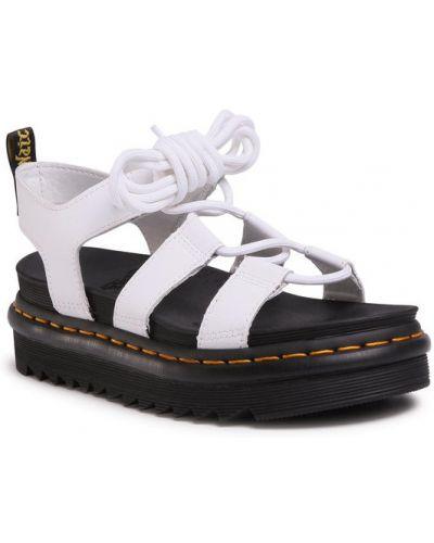 Białe sandały Dr. Martens
