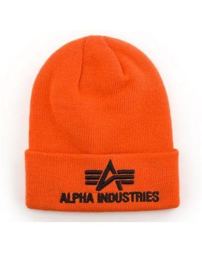Czapka beanie - pomarańczowa Alpha Industries