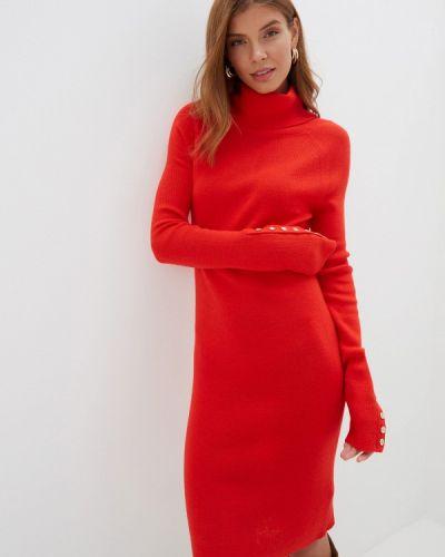 Платье вязаное красный Silvian Heach