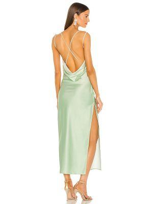 С ремешком платье с декольте мятное Michael Costello