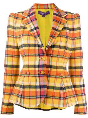 Оранжевая с рукавами куртка из овчины Ralph Lauren Collection