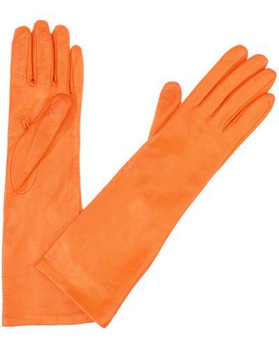 Кожаные перчатки оранжевые Mor`a