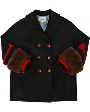 Płaszcz wełniany żakard Gucci