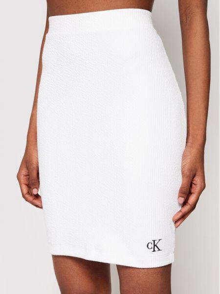 Spódnica ołówkowa - biała Calvin Klein Jeans