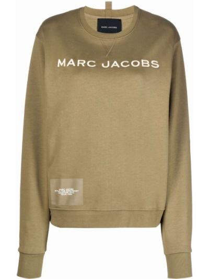 Хлопковый свитшот - зеленый Marc Jacobs