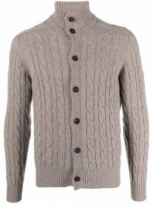 Brązowy z kaszmiru sweter Cruciani