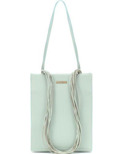Кожаная сумка сумка-тоут синий Jacquemus