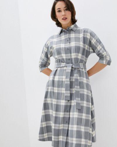 Базовое серое платье-рубашка Base Forms