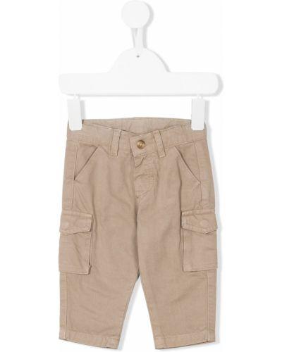 Хлопковые брюки карго на пуговицах с карманами Knot