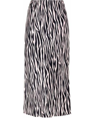 Облегченная розовая сатиновая юбка миди Olivia Von Halle