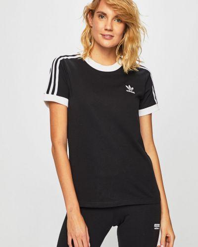 Футболка черная с декольте Adidas Originals