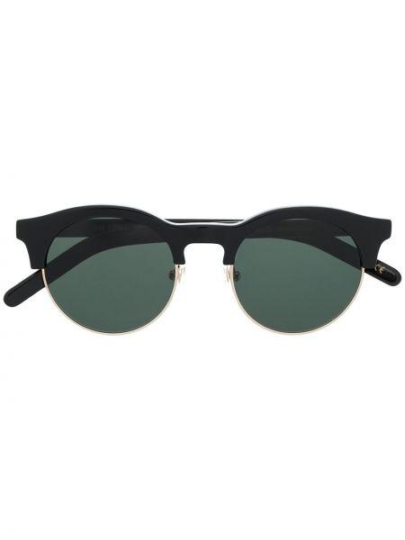 Прямые муслиновые черные солнцезащитные очки круглые Han Kjøbenhavn