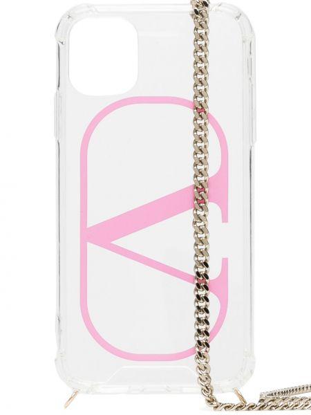 Z paskiem różowy łańcuch ze złota Valentino Garavani