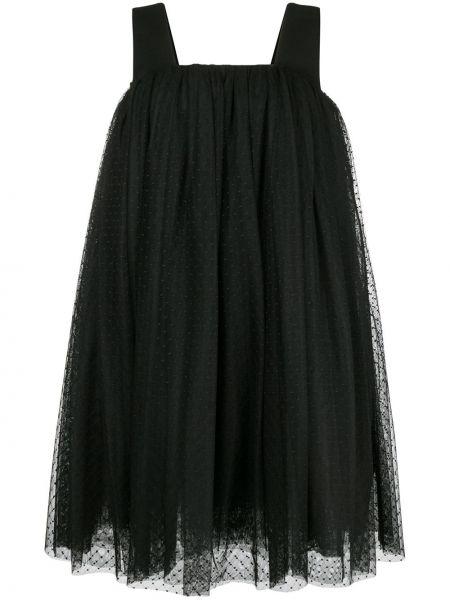 Платье миди в горошек черное Comme Des Garçons Noir Kei Ninomiya