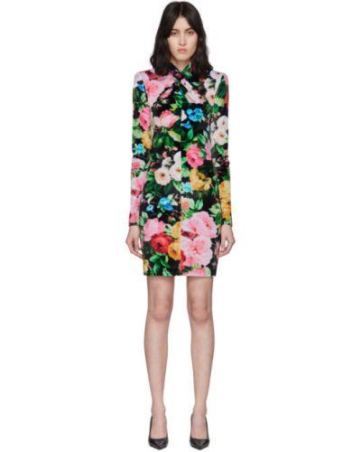 Платье макси розовое с цветочным принтом Richard Quinn