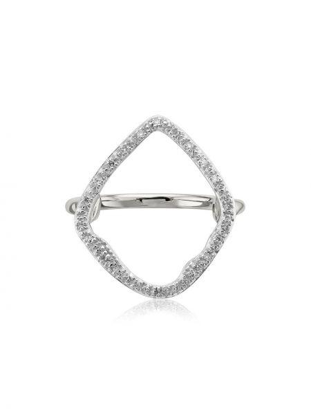 Кольцо с бриллиантом - серебряное Monica Vinader