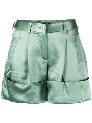 Зеленые хлопковые шорты на молнии Jejia