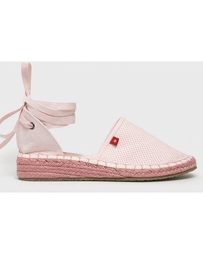 Эспадрильи на шнуровке розовый Big Star