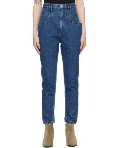 Niebieski jeansy z kieszeniami Isabel Marant