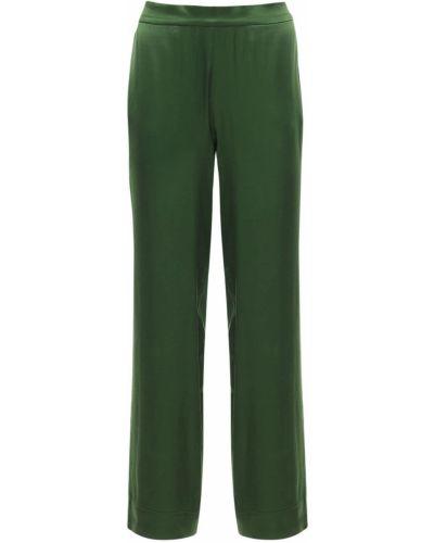 Zielona satynowa piżama Asceno