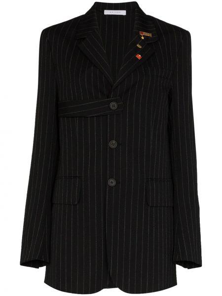 Однобортный черный пиджак с карманами Delada