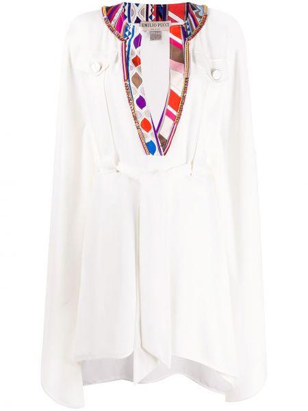 Платье с поясом с V-образным вырезом с карманами Emilio Pucci