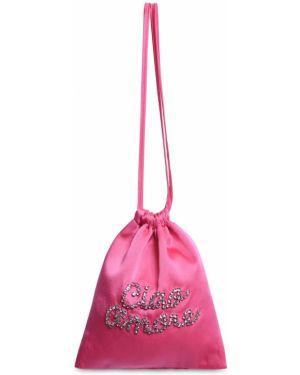 Satynowa różowa torebka Giada Benincasa