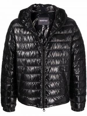 Черная куртка с перьями Duvetica
