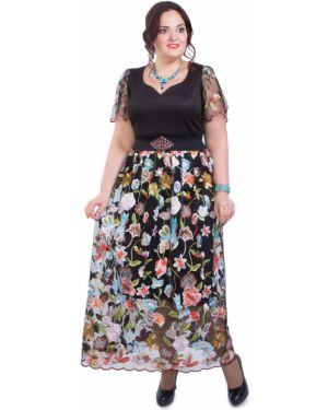 Платье с цветочным принтом сетчатое Wisell