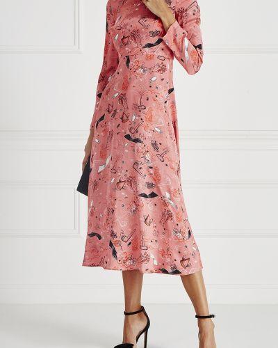 Платье миди розовое на молнии Vivetta