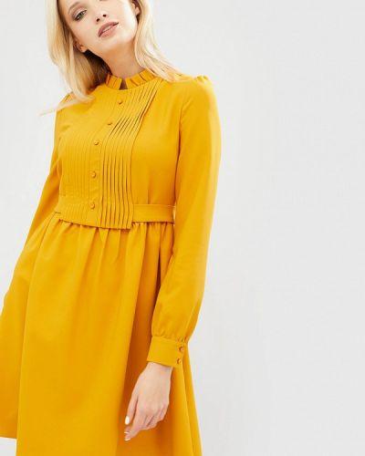 Желтое платье весеннее Cardo