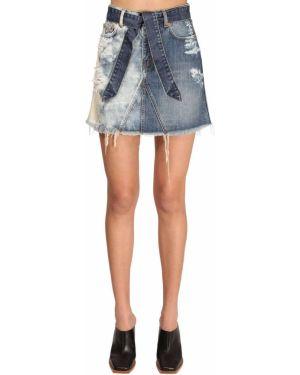 Dżinsowa spódnica z nadrukiem z paskiem Givenchy