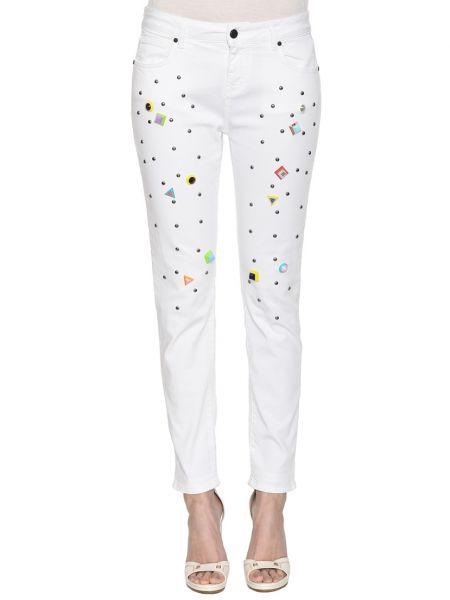 Хлопковые джинсы - белые Up Jeans