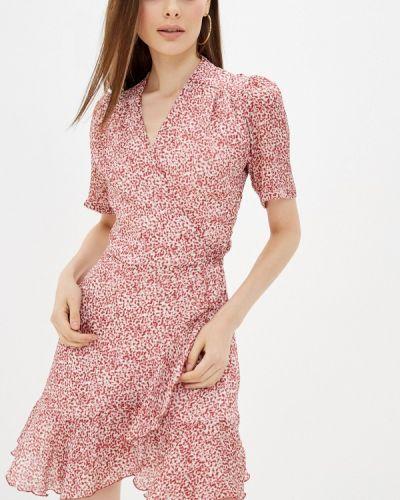 Красное платье с запахом Lorani