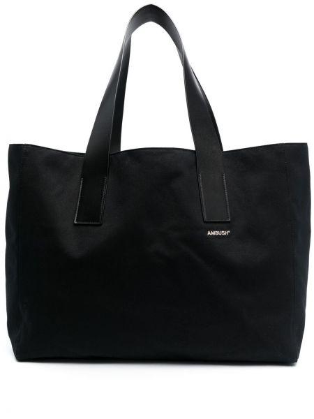 Czarna torebka skórzana z printem Ambush