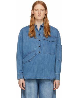 Koszula z długim rękawem jeansowa z kołnierzem Tibi